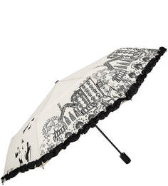 Автоматический зонт с куполом бежевого цвета Flioraj