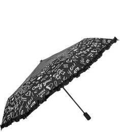 Автоматический зонт с куполом черного цвета Flioraj