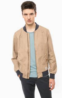 Коричневая куртка на молнии Tom Tailor Denim