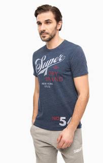 Синяя футболка с круглым вырезом Superdry