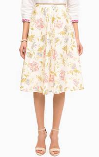 Юбка средней длины с цветочным принтом Pennyblack
