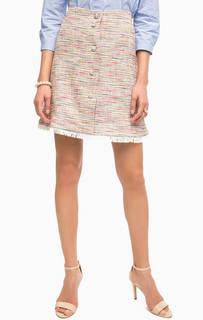Разноцветная юбка с застежкой на кнопки Pennyblack