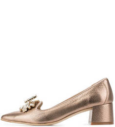 Золотистые кожаные туфли RAS