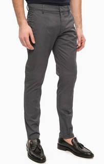 Зауженные хлопковые брюки на молнии Antony Morato