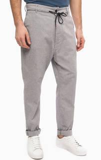 Серые хлопковые брюки на пуговицах Antony Morato