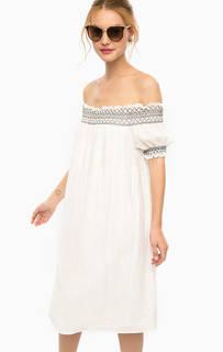 Белое платье свободного кроя Darling