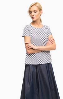 Хлопковая футболка с короткими рукавами Stefanel