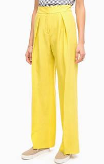 Широкие желтые брюки Stefanel