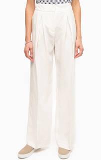 Широкие белые брюки Stefanel