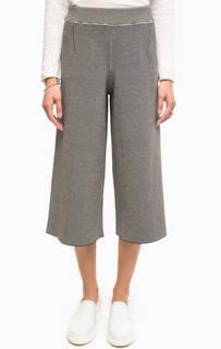 Эластичные брюки кюлоты в полоску Stefanel