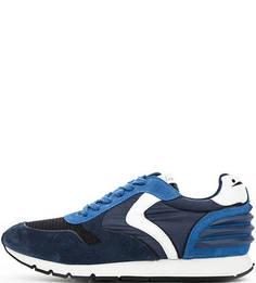 Синие кроссовки с объемными вставками Voile Blanche