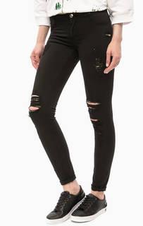 Черные зауженные джинсы скинни MET