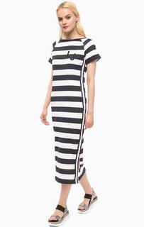 Платье в полоску с короткими рукавами Liu Jo Sport