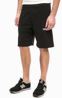 Черные хлопковые шорты в спортивном стиле Carhartt WIP