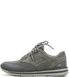 Серые кроссовки на шнурках Skechers