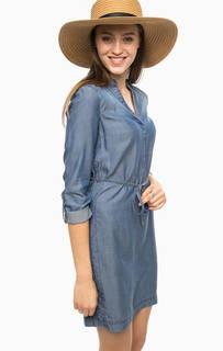 Синее платье с разрезами по бокам More & More