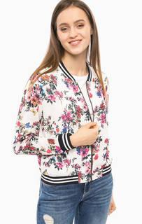 Белая куртка с цветочным принтом More & More