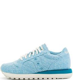 Синие текстильные кроссовки Saucony