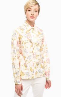 Рубашка молочного цвета с цветочным принтом Pennyblack