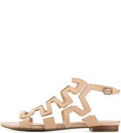 Бежевые сандалии из натуральной кожи Guess