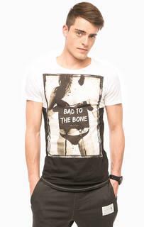 Белая хлопковая футболка Religion