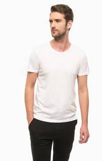 Однотонная белая футболка с круглым вырезом Mavi