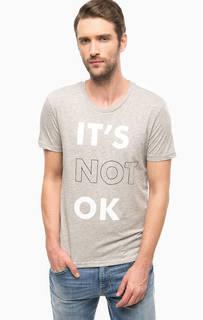 Серая футболка с короткими рукавами Mavi