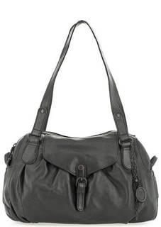 Черная сумка из натуральной кожи на молнии Aunts & Uncles