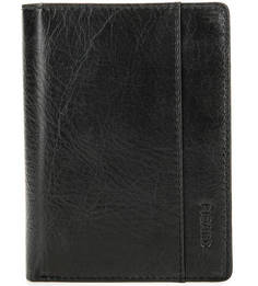 Черное кожаное портмоне с двумя отделами для купюр Picard