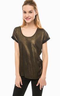 Золотистая футболка с коротким рукавом Silvian Heach
