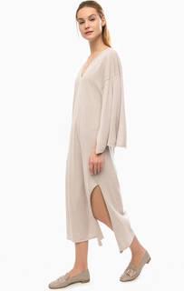 Длинное хлопковое платье с разрезами Stefanel