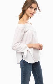 Хлопковая блуза с открытыми плечами Scotch&Soda