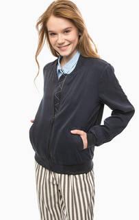 Темно-синяя легкая куртка на молнии NÜmph