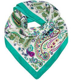 Легкий разноцветный платок с принтом Trussardi Jeans