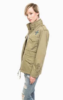 Куртка цвета хаки со скрытым капюшоном D&S Ralph Lauren