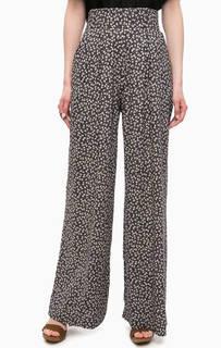 Широкие синие брюки с цветочным принтом D&S Ralph Lauren