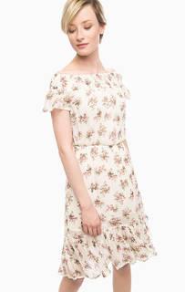 Платье средней длины с цветочным принтом D&S Ralph Lauren