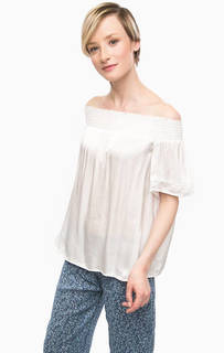 Блуза белого цвета с короткими рукавами D&S Ralph Lauren