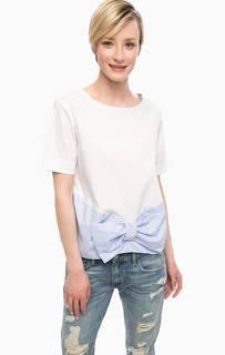 Трикотажная блуза с бантом Pois