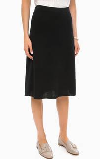 Однотонная хлопковая юбка на резинке Stefanel