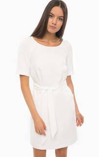 Короткое белое платье свободного кроя Armani Jeans