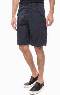 Синие хлопковые шорты на молнии Armani Jeans