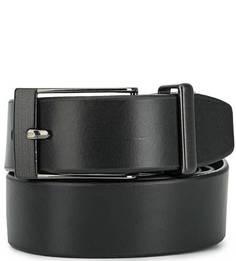 Кожаный ремень черного цвета Miguel Bellido