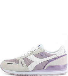 Текстильные кроссовки с замшевыми вставками Diadora