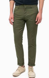 Зауженные брюки цвета хаки на молнии Carhartt WIP