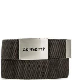 Текстильный ремень цвета хаки Carhartt WIP