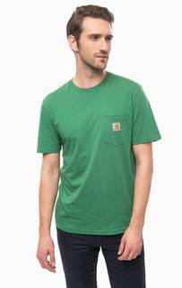 Хлопковая футболка с нагрудным карманом Carhartt WIP