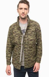 Куртка из хлопка с камуфляжным принтом Carhartt WIP