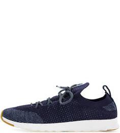 Синие текстильные кроссовки на шнуровке Native