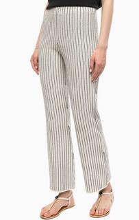 Расклешенные брюки в полоску Stefanel